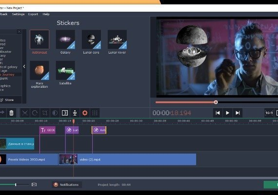 Movavi Video Editor Plus 2020 – Space Journey Pack EU